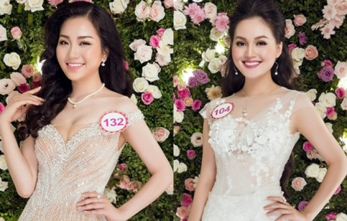Thí sinh Hoa hậu khoe sắc trong váy xuyên thấu