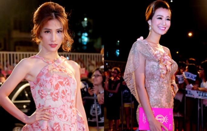 Dàn sao chưng diện trên thảm đỏ Hoa hậu Việt Nam