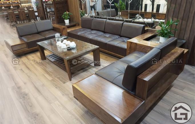 Bàn ghế sofa khung GỖ hay khung INOX nên chọn loại nào cho phòng khách
