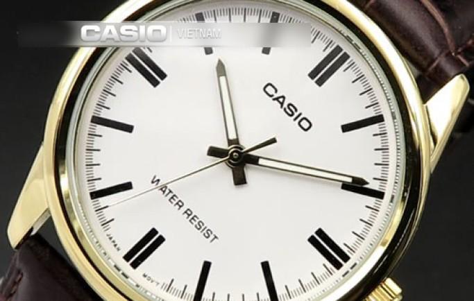 Casio LTP-V005GL-7AUDF dây da nâu mềm mại thu hút