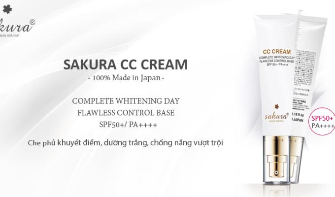 Che phủ khuyết điểm hiệu quả với kem trang điểm sakura