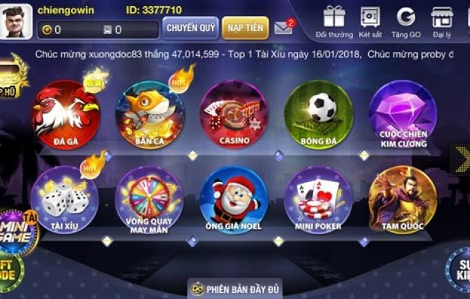 Chơi game đổi thưởng cùng cộng đồng Go Win
