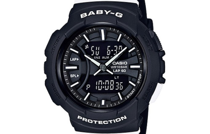 Đồng hồ Casio Baby-G BGA-240-1A1 tông đen mạnh mẽ cho cô nàng năng động