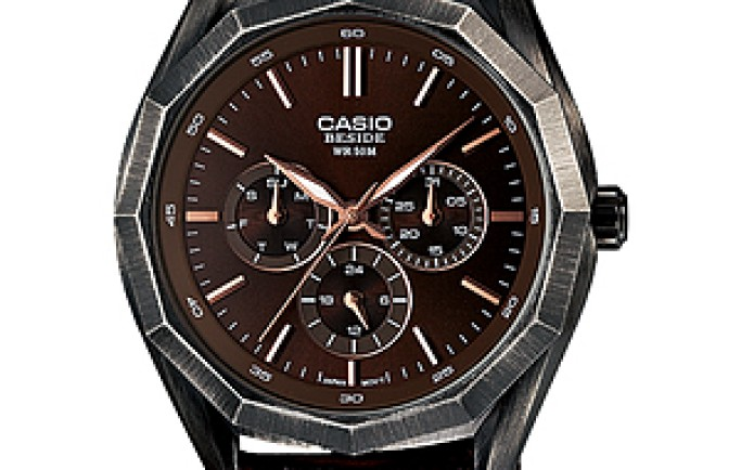 Đồng hồ Casio BEM-310BL-5AV lịch lãm cuốn hút với sắc nâu bắt mắt
