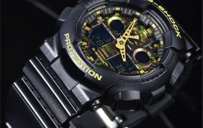 Đồng hồ Casio G-Shock GA-100CF-1A9DR thiết kế màu mặt độc đáo