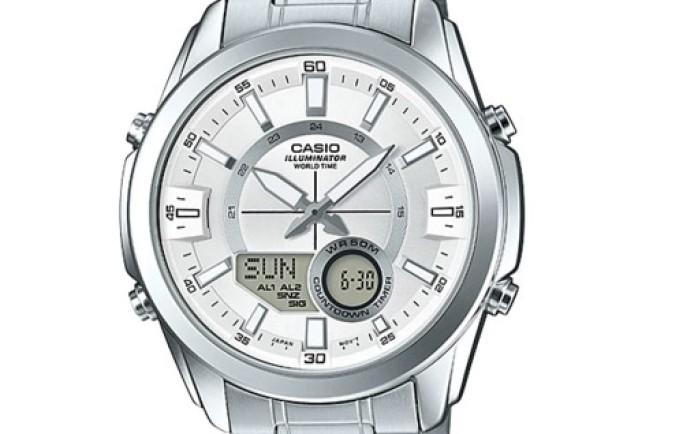 Đồng hồ Casio nam AMW-810D-7AV sáng bóng phù hợp với những anh chàng công sở