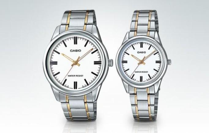 Đồng hồ đôi Casio MLP-V005SG-7AUDF mạ vàng cho cặp đôi thêm gắn kết