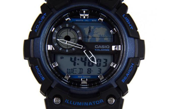 Đồng hồ nam Casio AEQ-200W-2AV màu xanh cuốn hút phái mạnh