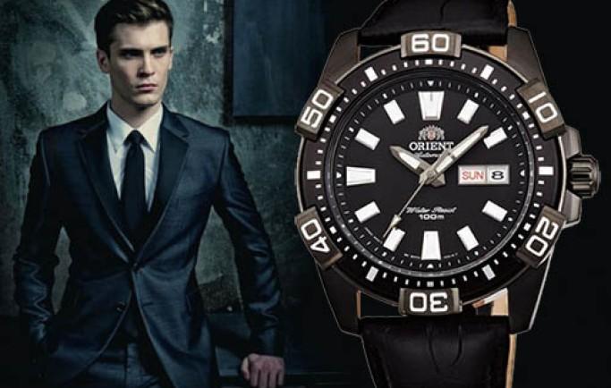 Đồng hồ nam Orient cơ FEM7R004B9 sắc sảo đậm nét nam tính