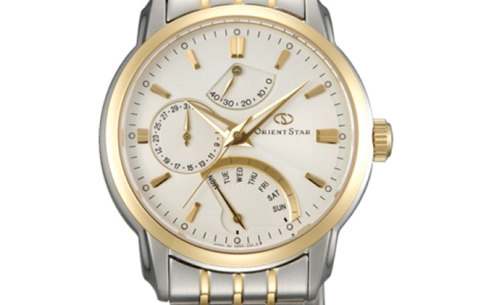 Đồng hồ nam Orient cơ SDE00001W0 mạ vàng độc đáo