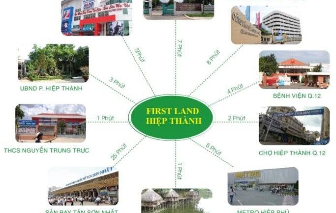 First Land Hiệp Thành TP HCM công viên ven sông chuẩn mực mới một kênh sinh lợi