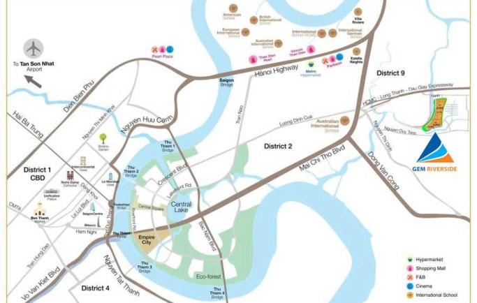 Khả năng gắn kết vùng dự án căn hộ Gem Riverside Đất Xanh tiện lợi ra sao?
