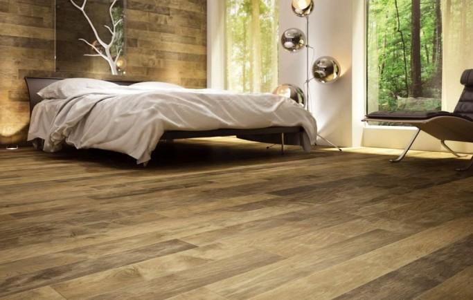 Mẫu sàn nhựa giả gỗ cho một phòng ngủ sang trọng