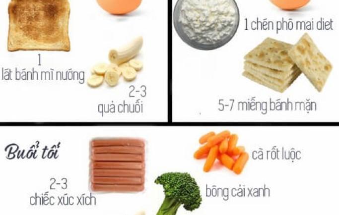 Mẹo nhỏ khi xây dựng thực đơn ăn giảm cân hằng ngày