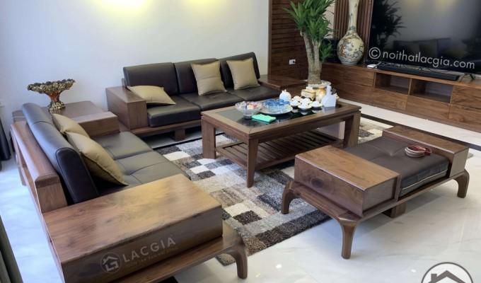 Nên mua mẫu sofa khung GỖ hay khung INOX cho phòng khách tiện nghi