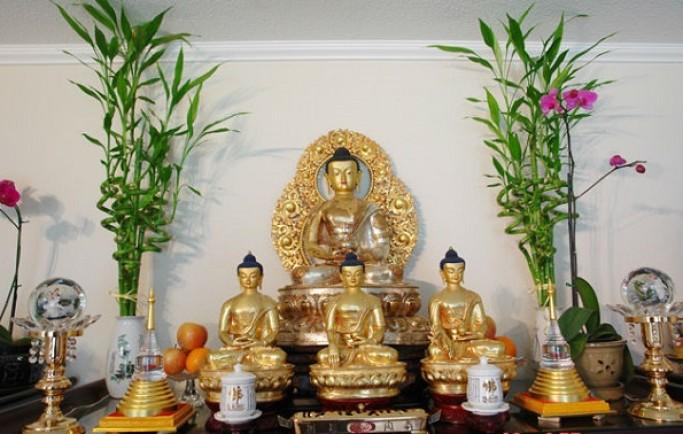 Những lưu ý không thể bỏ qua khi đặt thờ tượng Phật tại nhà