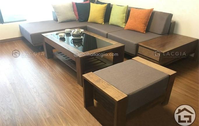 Những ưu điểm của bộ bàn ghế sofa vải cho phòng khách