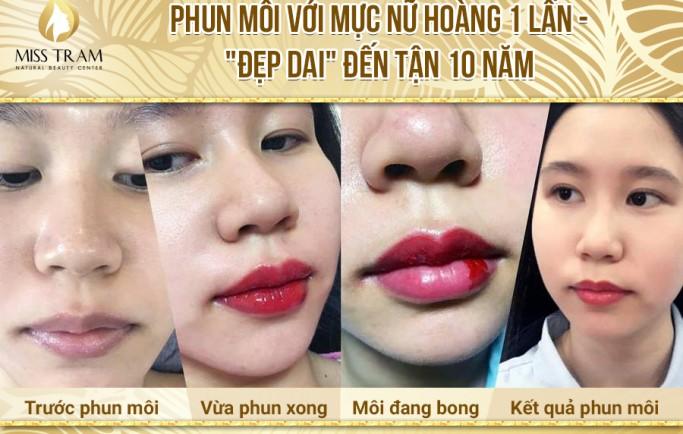Ở đâu phun thêu môi nữ ở HCM
