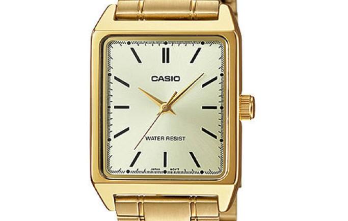 Sắc vàng rực rỡ với đồng hồ Casio MTP-V007G-9EUDF dành cho nam