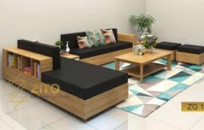 Sofa gỗ tự nhiên góc- sản phẩm hấp dẫn mọi ánh nhìn!