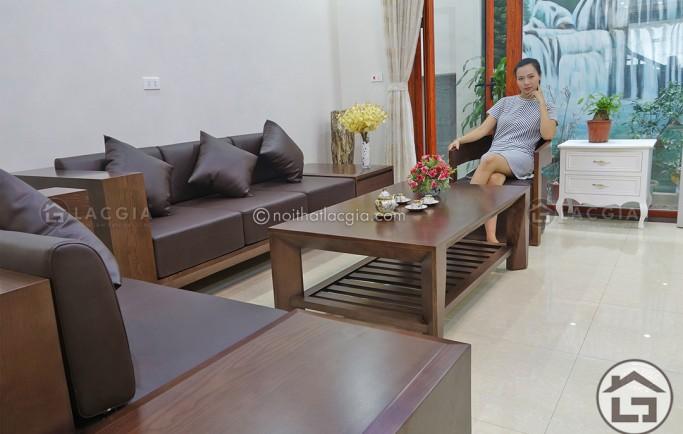 Tìm hiểu về ghế sofa gỗ đẹp bọc vải đẳng cấp, tiện nghi tại Lạng Sơn