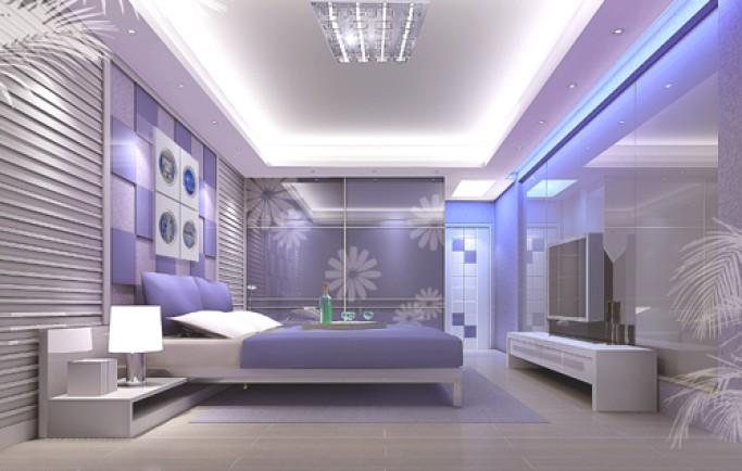 Trang trí phòng ngủ mới lạ với decal dán kính