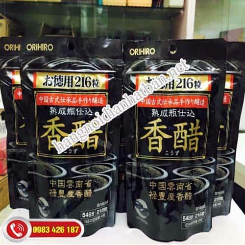 Bật mí sản phẩm dấm đen giảm cân Orihiro của Nhật Bản