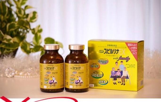 Gợi ý sản phẩm viên uống tảo xoắn vàng EX Spirulina family Nhật Bản