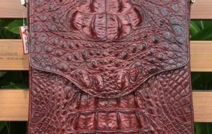 Túi Xách Chéo Cho Nam Da Cá Sấu Thật CCS05-N chỉ 9tr900